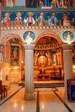 Innerhalb der Kirche Heilig-Anna--Rohiakloster, aufgestellt in einem natürlichen und lokalisierten Platz, in Maramures, Siebenbür Stockbilder