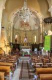 Innerhalb der Kirche von Saint Julien, Nespouls, Correze, Limousin, Frankreich Lizenzfreie Stockfotografie