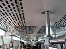 Innerhalb der Metro-Schiene Stockfotografie