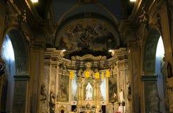 Innerhalb der sehr alten klassischen christlichen Kirche Stockbilder