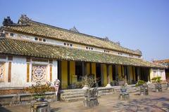 Innerhalb der Zitadelle Kaiserverbotene stadt Kaisereinschließung Farbpalast Farbe, Vietnam Stockfotografie