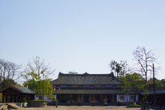 Innerhalb der Zitadelle Kaiserverbotene stadt Kaisereinschließung Farbpalast Farbe, Vietnam Lizenzfreies Stockfoto