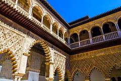 Innerhalb des Alcazar von Sevilla, Spanien Lizenzfreie Stockfotografie