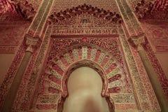Innerhalb des alten Araber Madrasah-Palastes von Madraza in Granada, Andalusien, Spanien lizenzfreie stockbilder