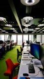 Innerhalb des Büros von Architekten Rogers Stirk Harbour + tut sich zusammen stockfotografie