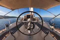 Innerhalb des Cockpits Lizenzfreies Stockfoto