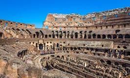 Innerhalb des Coloseum in Rom Stockfotografie