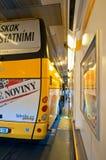 Innerhalb des Eurotunnel Stockfotografie
