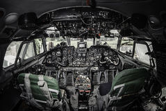 Innerhalb des Flugzeugcockpits Lizenzfreie Stockfotografie