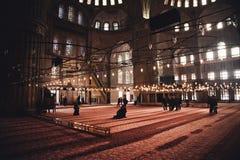 Innerhalb des Hagia Sophia Stockfotos