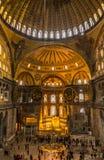 Innerhalb des Hagia Sophia in Istanbul Stockfoto