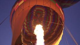 Innerhalb des Heißluftballons stock footage