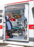 Innerhalb des Krankenwagens Lizenzfreie Stockbilder