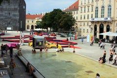 Innerhalb des Museumsquartier in Wien Lizenzfreie Stockfotos