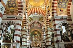 Innerhalb des Notre Damede-La Garde, Marseille Lizenzfreie Stockfotografie
