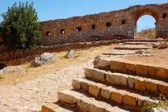 Innerhalb des palamidi Griechenland Lizenzfreies Stockfoto