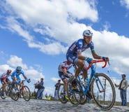 Innerhalb des Peloton - Paris Roubaix 2016 Lizenzfreies Stockfoto