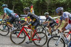 Innerhalb des Peloton - Tour de France 2017 lizenzfreie stockfotos