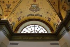 Innerhalb des Raumes wird im Stil des 19. Jahrhunderts verziert Lizenzfreie Stockfotografie