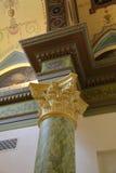 Innerhalb des Raumes wird im Stil des 19. Jahrhunderts verziert Lizenzfreies Stockbild