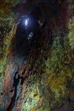 Innerhalb des Vulkans Stockfotos