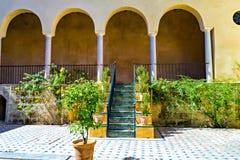 Innerhalb des wirklichen Alcazar von Sevilla, Spanien Stockbild