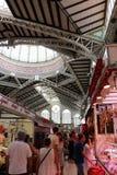 Innerhalb des zentralen Marktes von Valencia stockfotos