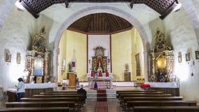 Innerhalb einer Kirche Lizenzfreies Stockbild