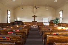 Innerhalb einer Kirche des alten Landes Stockbild