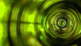 Innerhalb einer Weinflasche stockfoto