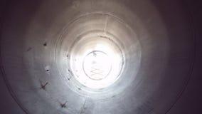 Innerhalb einer Windkraftanlage stock video footage
