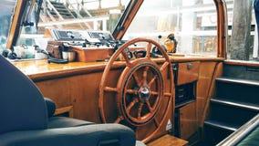 Innerhalb eines Bootes Stockfoto
