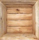 Innerhalb eines hölzernen Kastens Stockbild