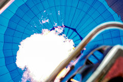 Innerhalb eines Heißluftballons Lizenzfreies Stockbild