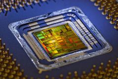 Innerhalb eines Mikroprozessors Stockbilder