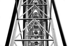 Innerhalb Ferris Wheels Schwarzweiss Lizenzfreie Stockfotos