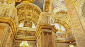 Innerhalb Heilig-Isaac-` s Kathedrale stock video footage