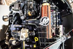 Innerhalb Mercury Outboard Motors Lizenzfreies Stockbild
