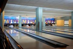 Innerhalb schließt von der Bowlingspielmitte Lizenzfreies Stockbild