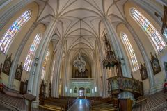 Innerhalb St. Mary Cathedral, Novi Sad, Serbien Stockfoto