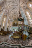 Innerhalb St. Mary Cathedral, Novi Sad, Serbien Stockbild