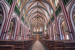 Innerhalb StMary-` s Kathedrale in Rangun, Myanmar stockfoto
