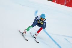 INNERHOFER Christof in FIS alpiner Ski World Cup - das SUPE der 3. MÄNNER Lizenzfreie Stockfotos