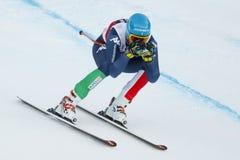 INNERHOFER Christof in FIS alpiner Ski World Cup - das SUPE der 3. MÄNNER Lizenzfreies Stockbild