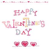 Innerkarte des Valentinsgrußes lizenzfreie abbildung