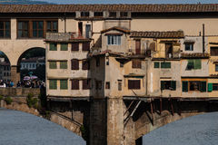 Inners of ponte vecchio. Unusual inside view into the famous Ponte Vecchio  in Florence- Italy Royalty Free Stock Photography