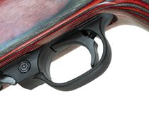 Innesco del fucile su bianco fotografia stock