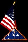 Inneslutad amerikanska flaggan Arkivbild