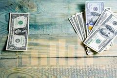 Innestående finansiell investering av pengar arkivfoton