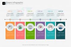 Innesta il modello infographic per la presentazione di affari, piano strategico per definire i valori della società royalty illustrazione gratis